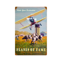 """Planes of Fame"" Vintage Metal Sign Pasttime Signs"