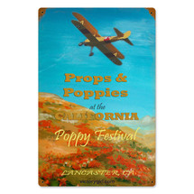 """Poppy Festival"" Vintage Metal Sign Pasttime Signs"
