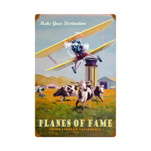 """Planes of Fame"" Vintage Metal Sign Pasttime Signs PT-VG020"