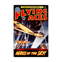 """Flying Aces"" Metal Sign Pasttime Signs"