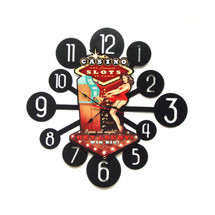 Casino Pinup Layered Clock Pasttime Signs