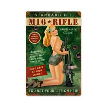 M16 Girl Vintage Metal Sign Pasttime Signs