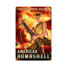 American Bombshell Vintage Metal Sign Pasttime Signs PT-HB001