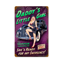 Daddy's Little Girl Vintage Metal Sign Pasttime Signs