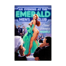 Emerald Mens Club Metal Sign Pasttime Signs