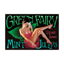 Green Fairy Metal Sign Pasttime Signs