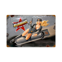 Russian Nose Art Vintage Metal Sign Pasttime Signs