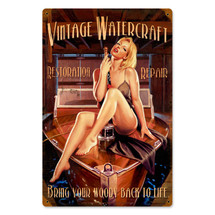 Vintage Watercraft Vintage Metal Sign Pasttime Signs