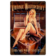 Vintage Watercraft Metal Sign Pasttime Signs
