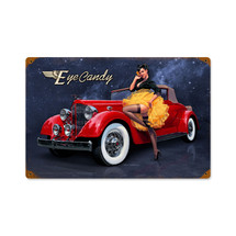 Eye Candy Vintage Metal Sign Pasttime Signs