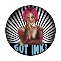 Got Ink Round Metal Sign Pasttime Signs