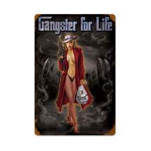 Gangster Vintage Metal Sign Pasttime Signs