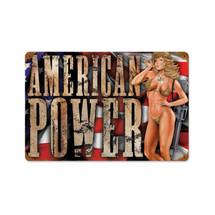 American Power Vintage Metal Sign Pasttime Signs