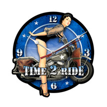 Time 2 Ride Custom Metal Shape Pasttime Signs