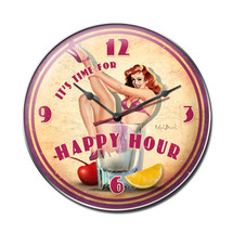 Happy Hour Clock Pasttime Signs