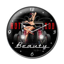 Hot Rod Beauty Clock Pasttime Signs