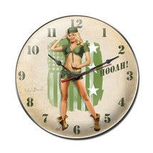 Hooah Army Clock Pasttime Signs