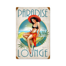 Paradise Vintage Metal Sign Pasttime Signs