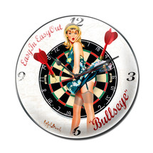 Bullseye Clock Pasttime Signs