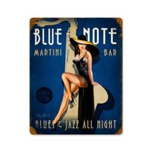 Blue Note Jazz Club Vintage Metal Sign Pasttime Signs