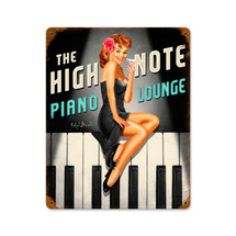 High Note Piano Lounge Vintage Metal Sign Pasttime Signs