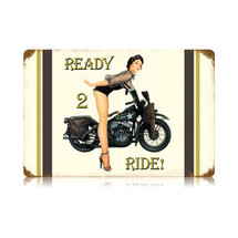 Ready to Ride Vintage Metal Sign Pasttime Signs