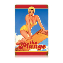 The Plunge Vintage Metal Sign Pasttime Signs