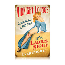 Midnight Lounge Vintage Metal Sign Pasttime Signs