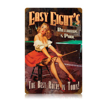 Easy Eights Pool Vintage Metal Sign Pasttime Signs
