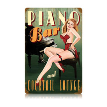 Piano Bar Vintage Metal Sign Pasttime Signs