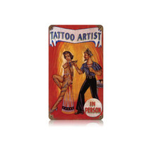 Tattoo Artist Vintage Metal Sign Pasttime Signs