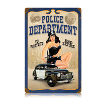 Police Pin Up Vintage Metal Sign Pasttime Signs