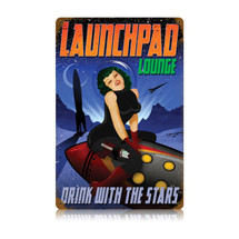 Launchpad Lounge Vintage Metal Sign Pasttime Signs