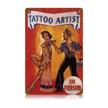 Tattoo Artist Vintage Metal Sign Pasttime Signs PT-V548