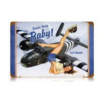 Bombs Away Vintage Metal Sign Pasttime Signs PT-V553
