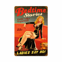 Bedtime Stories Vintage Metal Sign Pasttime Signs PT-V661