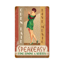 Speakeasy Vintage Metal Sign Pasttime Signs