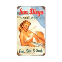 San Diego Pinup Vintage Metal Sign Pasttime Signs PT-V999