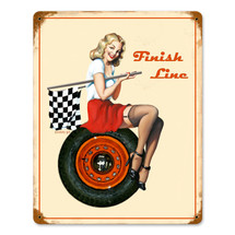 Finish Line Vintage Metal Sign Pasttime Signs