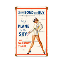 War Bonds Vintage Metal Sign Pasttime Signs