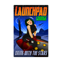 Launchpad Lounge Metal Sign Pasttime Signs