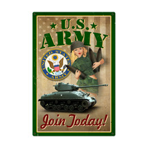 Army Pinup Metal Sign Pasttime Signs