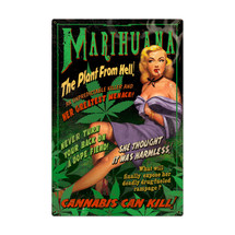 Marijuana Pinup Metal Sign Pasttime Signs