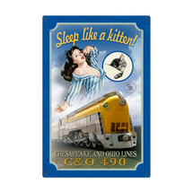 Chessie Kitten Train Metal Sign Pasttime Signs