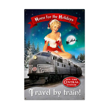 Christmas Train Metal Sign Pasttime Signs