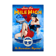 Mile High Club Metal Sign Pasttime Signs