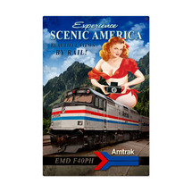 Amtrak Scenic America Metal Sign Pasttime Signs