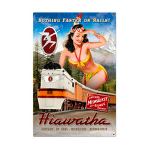 Haiawatha Indian Metal Sign Pasttime Signs