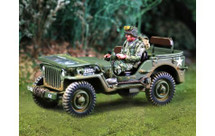 101st Airborne Jeep and Driver Figure