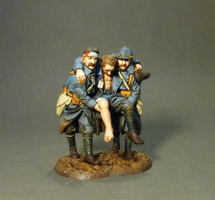 Three Wounded PCDF, French Infantry, The Great War, 1914-1918